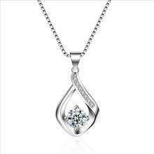 Everoyal New Fashion Lady 925 Silver Necklace For Women Jewelry Charm Water Drop Pendant Female Accessories Girls