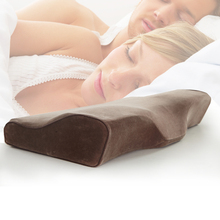 2016 High Quality Memory Foam Orthopedic Neck Soft Pillow Massager Fiber Slow Rebound Foam Travel Pillow Cervical Health Care