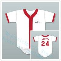 Ken Griffey Jr 24 Springfield Nuclear Power Plant Softball Team Baseball Jersey