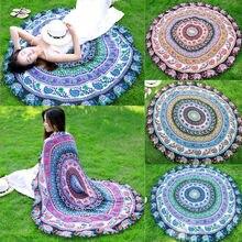 Новые поступления faroot гобелен в стиле бохо пляжное полотенце Мандала Круглый индийский коврик хиппи одеяло для пикника