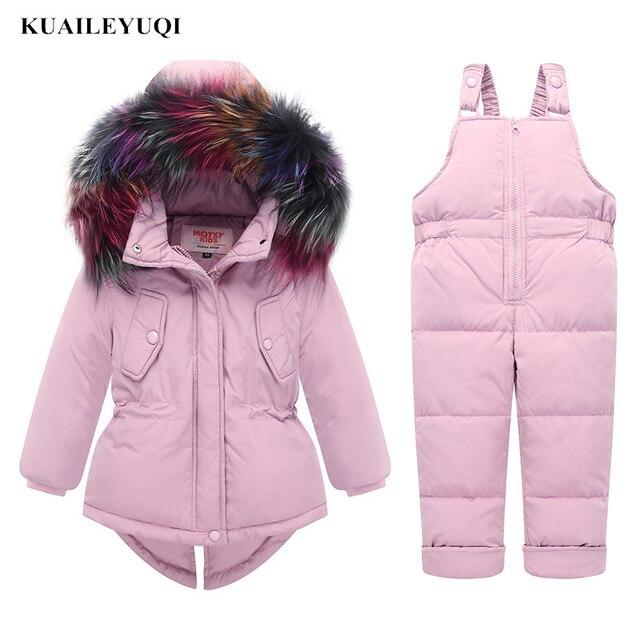 d526f16db5bcb -30 degrés Nouveaux Russie Hiver enfants de vêtements ensembles bébé ski  costume fille vêtements garçons