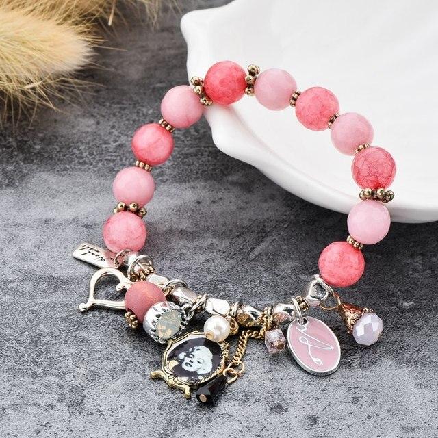 Купить chicvie розовые браслеты ручной работы и с подвесками для женщин картинки