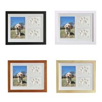 Pet Memorial Picture Frame Cats and Dogs Paw Print Photo Frame for Room Wall or Table Decor