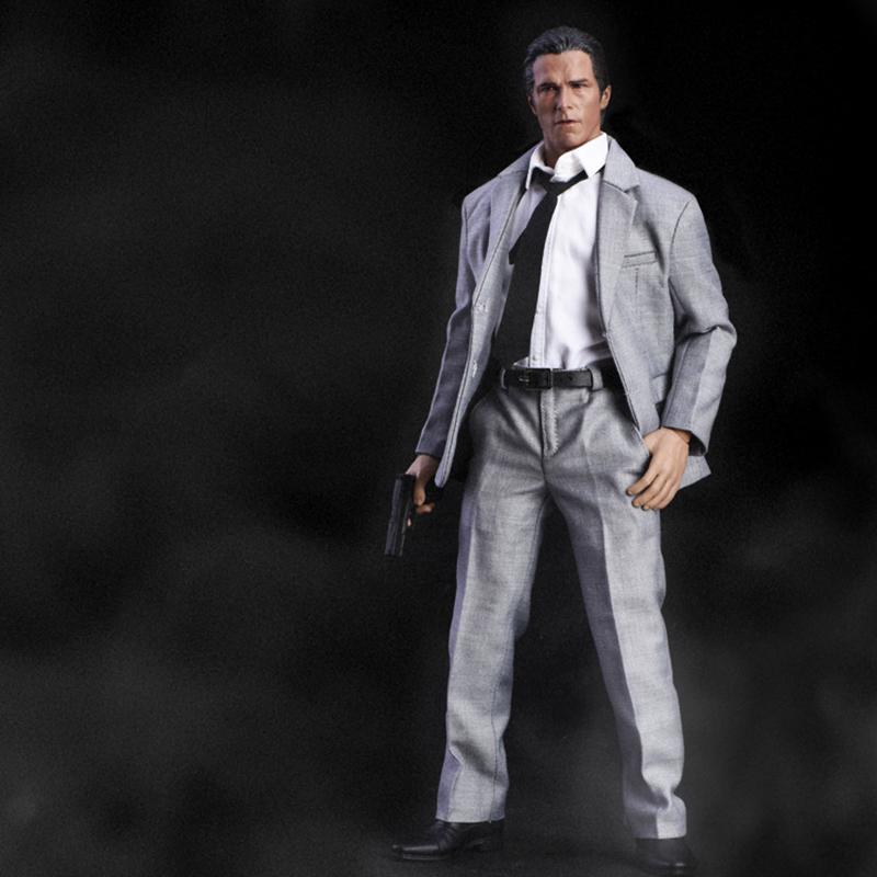 1/6 Scale Men's Grey Suit Narrow Shoulder Clothes Set for 12'' Action Figures Bodies 1 6 scale the game of death bruce lee head sculpt and kungfu clothes for 12 inches figures bodies