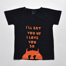 I Will Eat U Up Letter Printing Stylish Kids 1-4y Boys Girls Short Sleeve T-shirt Summer Funny Children Clothing