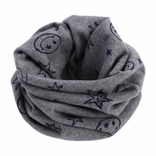 Children Kids Scarf Scarves Warm Loops Neckerchief Smile Face Stars For Winter KS-shipping