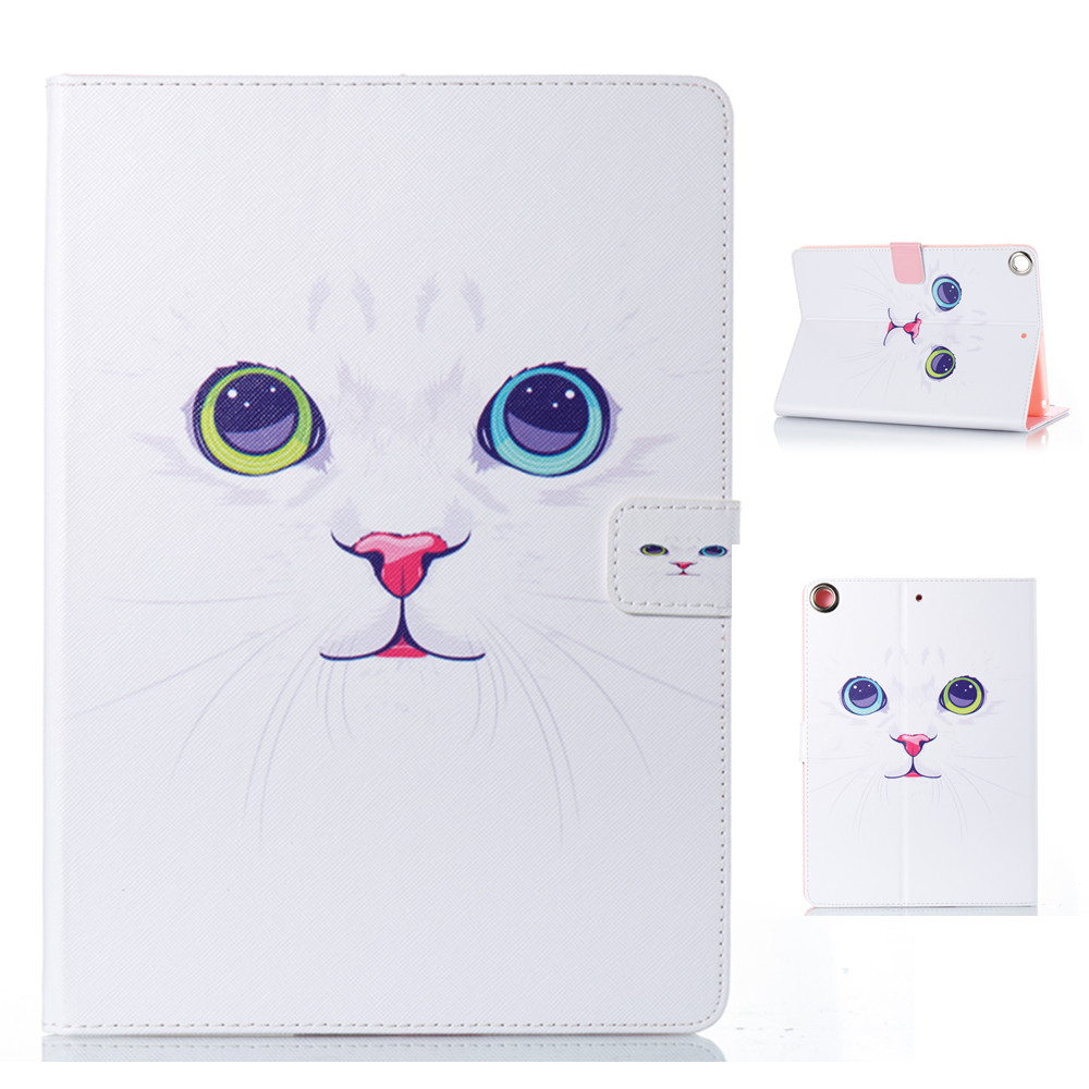 PU and PC Material Support Protective Cover Case of Cat Pattern For iPad Air 1 2