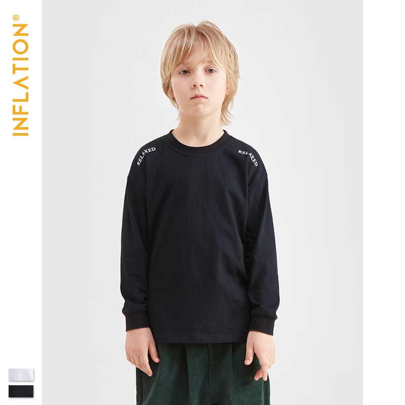 אינפלציה ילדי חולצה נערי חולצה סתיו ארוך שרוול פעוט תינוק-בנות טהור ילד חולצה אופנה סתיו ילד חולצת טי 19256A