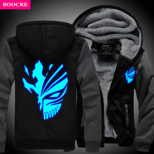 BOOCRE New Winter Coats Hoodie  Jackets Light Anime Hooded Zipper Men Thick Cardigan  Captain Cosplay Anime