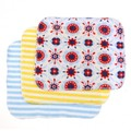 8pcs Baby Face Towels Washers Hand Cute Cartoon Wash Cloth Cotton Baby Handkerchief 12