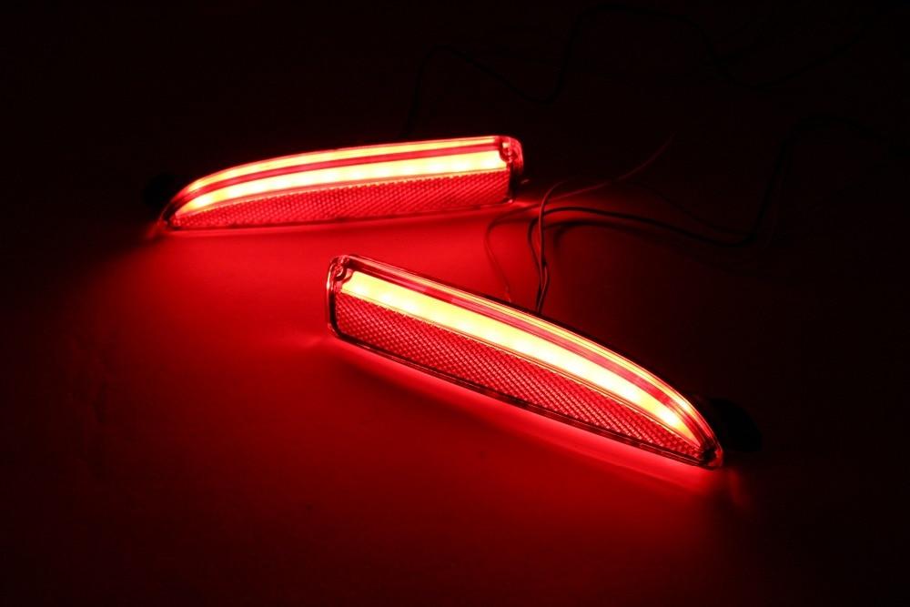 LED warning light + brake light + turn signal rear bumper light reflector for mazda 6 atenza 2013 16 mazda 3 axela 2014 16, 2pcs
