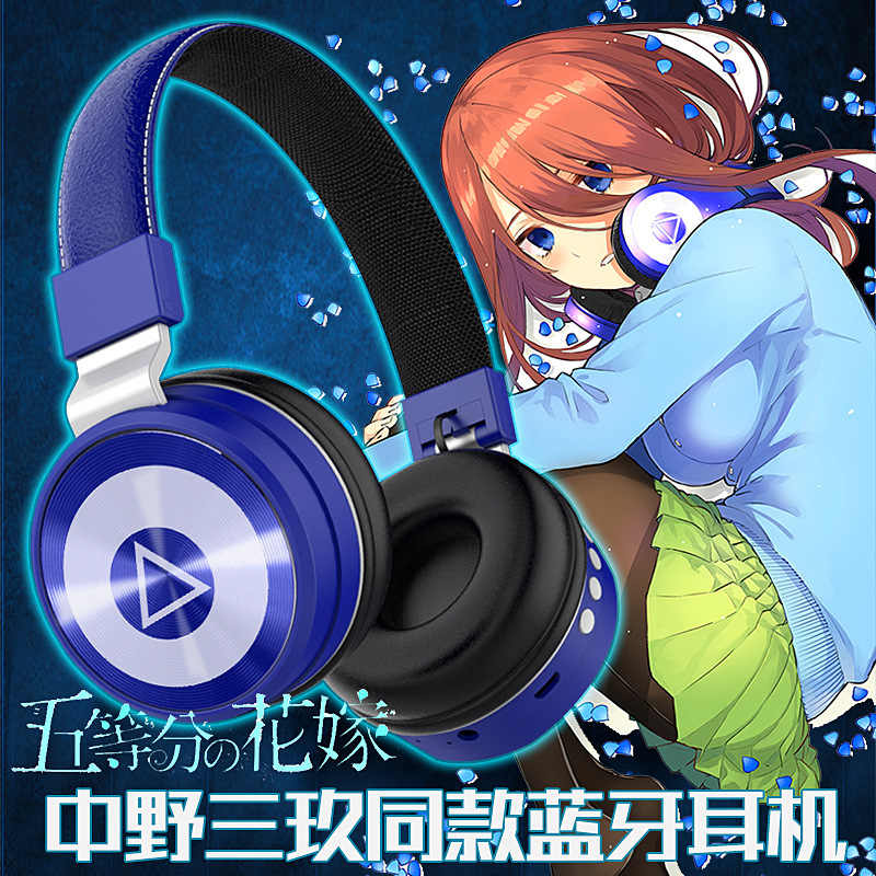 Nakano Miku Cosplay Headset Wireless Bluetooth Earphone Go-Toubun no Hanayome Costume Anime The Quintessential Quintuplets Gifts