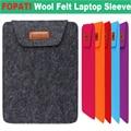 2016 Hot Fashion Wool Felt 11,12,13,14 15.6 inch Universal Laptop Ultrabook Notebook Skin Bag for Macbook Air Pro Sleeve Case
