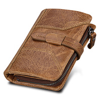 2018 Hot Sales Genuine Leather Retro Men Wallets Famous Brand Design Male Purse Carteira For Rfid