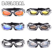 Motorcycle Retro Pilot Goggles Vintage Aviator Steampunk Helmet Goggle Protection Sunglasses Moto Biker Glasses Flying Scooter