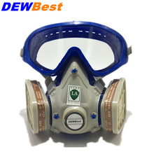 Silicone respirator gas mask pesticide pintura full face carbon filter mask paint spray gas boxe protect mask Free shipping(China)