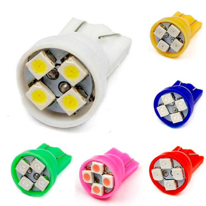 Car Light 10pcs 6 colors 4SMD <font><b>T10</b></font> 1210 <font><b>smd</b></font> <font><b>4</b></font> Led Lights Car Bulbs 194 168 501 W5W Wedge Tail bulb dropshipping Fast delivery image