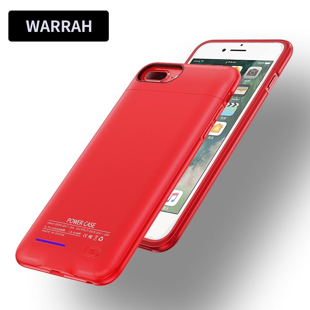imágenes para Caso Del Cargador de batería Para el iphone 7/7 Plus 3000/4200 mAh Banco Portable de Reserva del Paquete de Cajas de Baterías cubierta