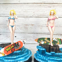 29cm Dragon Ball Z GLITTER GLAMOURS version Sexy Swimsuit No. 18 Gk Resin Model made bra can take off figure Collection Toys