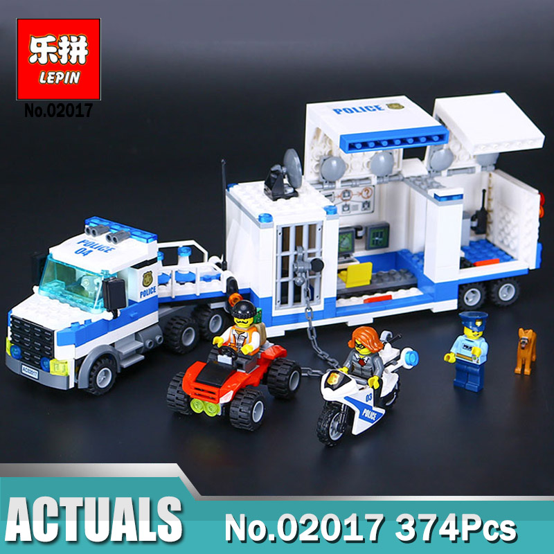LEPIN 02017 Mobile police station 02018 City Police High-Speed Chase Set DIY Toys For Children Compatible Legoinglys 60138 60139 junior republic синяя стеганая куртка
