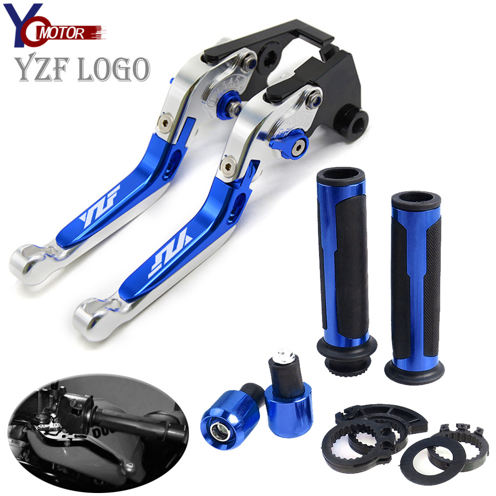 FOR YAMAHA YZF <font><b>R1</b></font> 2004 2005 2006 <font><b>2007</b></font> 2008 YZF-<font><b>R1</b></font> Motorcycle Accessories handle handlebar grips ends Folding Brake Clutch Levers image