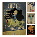 Серии Fallout Игры ретро Плакат Ретро Крафт-Бумага Бар Кафе Декор Для Дома Живопись Стикер Стены