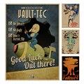 Série Fallout Jogo Poster retro Papel Kraft Retro Bar Café Pintura Decoração de Casa Adesivo de Parede