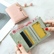 New 1 Zipper Cute Student Multifunctional Wallet Card PackageWallet Female Short Paragraph Small Fresh Folding