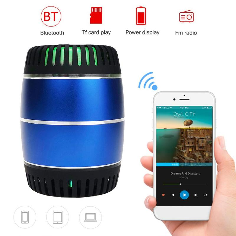 Mini Bluetooth Speaker Colorful LED Wireless Portable Speaker Music Surround Support TF Card FM Radio MP3 APP image