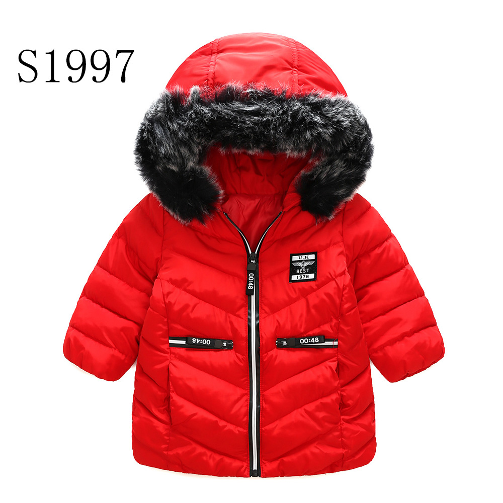 Kids Winter Coats 2017 New Brand Baby Girl Winter Coat Teenagers Warm Fur Collar Cotton Thick Parkas Red High Quality 4-10 Years 2016 new mori girl high quality sweep lace fur coat
