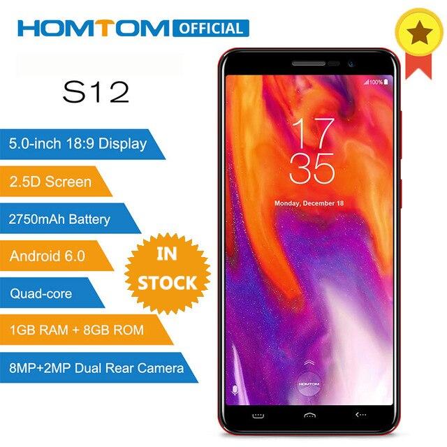 HOMTOM S12 MT6580 Quad Core Android 6 0 Smartphone 5 0 Inch