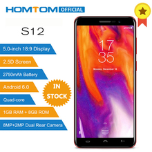 HOMTOM S12 MT6580 Quad Core Android 6.0 Smartphone 5.0 Inch 18:9 Display Dual Back Cameras 1GB RAM 8GB ROM 3G Mobile Phone