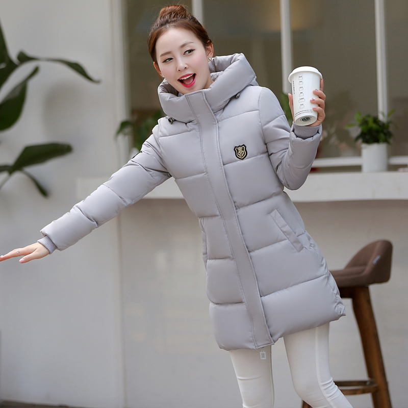 2017 Autumn Winter New Women Casual Thick Warm Hooded Padded Slim Down Cotton Coat Outwear Jacket Girl Long Parkas Plus Size 3XL m 4xl 2015 new fashion women winter down cotton padded coat female long slim thick jacket hooded zipper pocket outwear zs355