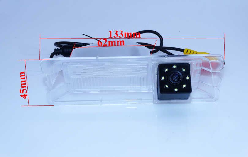 G; lente ass 170 grados cámara de marcha atrás trasera ccd visión nocturna 8 led cable apto para Nissan March para Renault Logan/Sandero