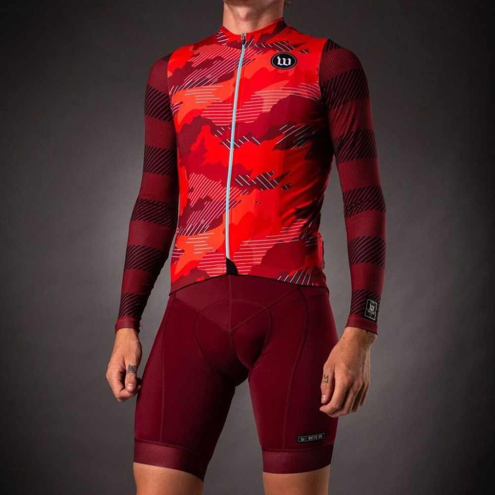 4f4310596 wattie ink cycling jacket pro team 2019 spring long sleeve jersey custom  clothing bike suit wear