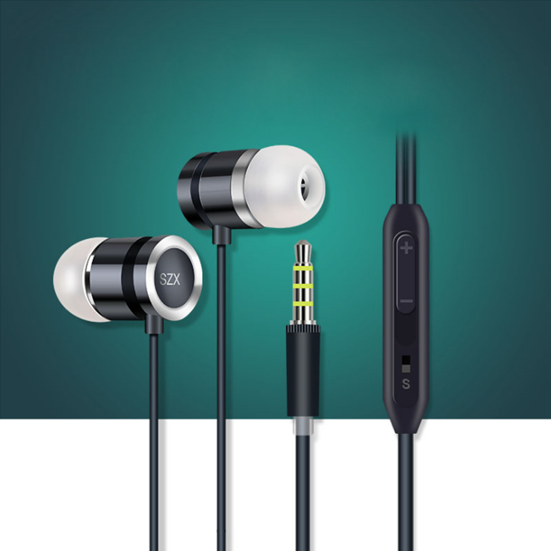 3.5mm in ear Earphone with Mic Noise Canceling Earbuds Heavy Bass for Android Phones and iphones 3.5mm Earphone in Line Control