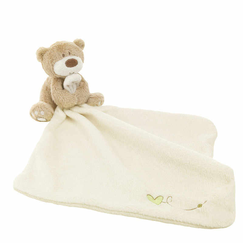 Infant Lovely Baby Nursery Toddler Smooth Bath Blanket Care Soft Towel Appease Comforter Plush Stuffed Washable Cartoon Bear Toy