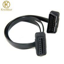 60 см плоский тонкий как лапша кабель OBD OBD2 OBDII 16 контактный разъем для мужчин и женщин диагностический инструмент ELM 327 удлинитель соединительный кабель