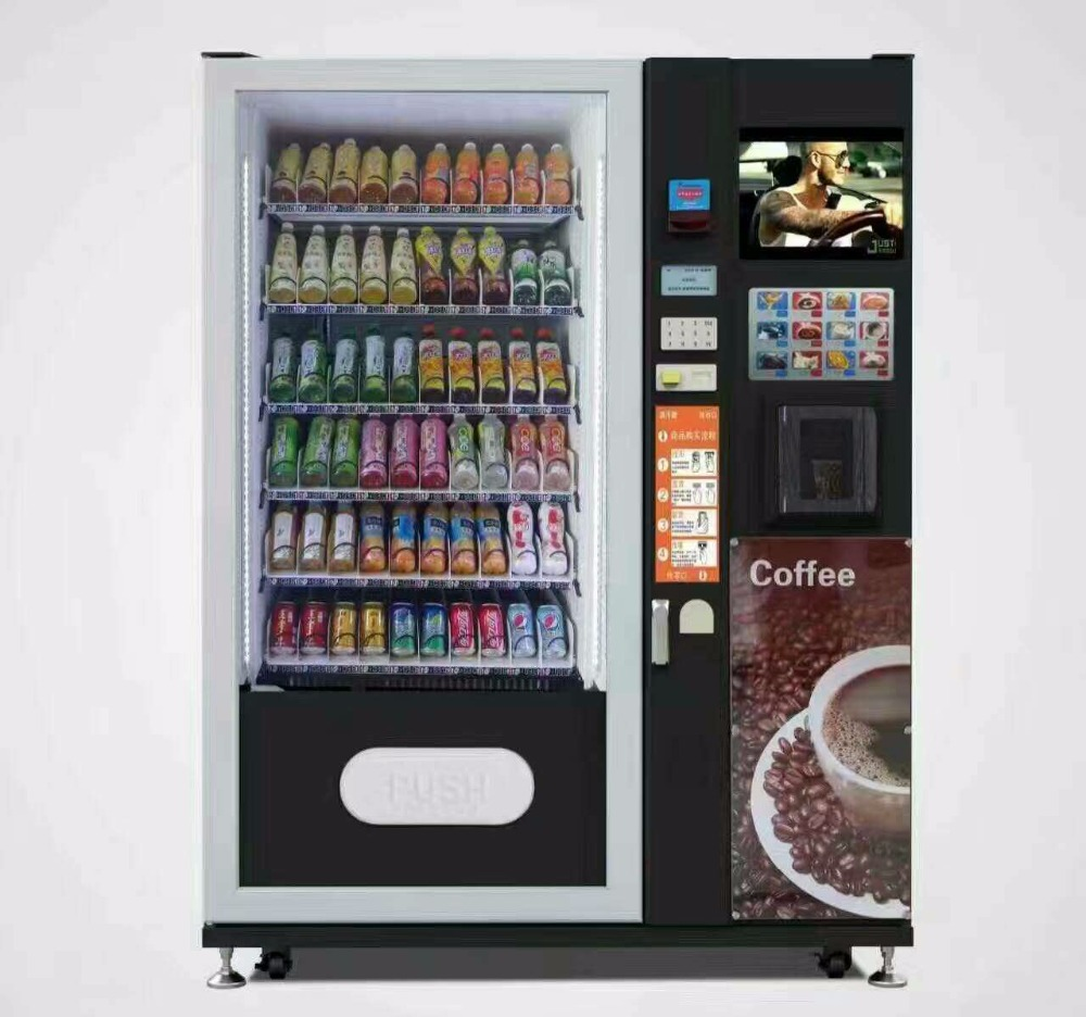 Snacks and Drinks Mini Combo Vending Machine coffee vending machine with coin with bill acceptor ...
