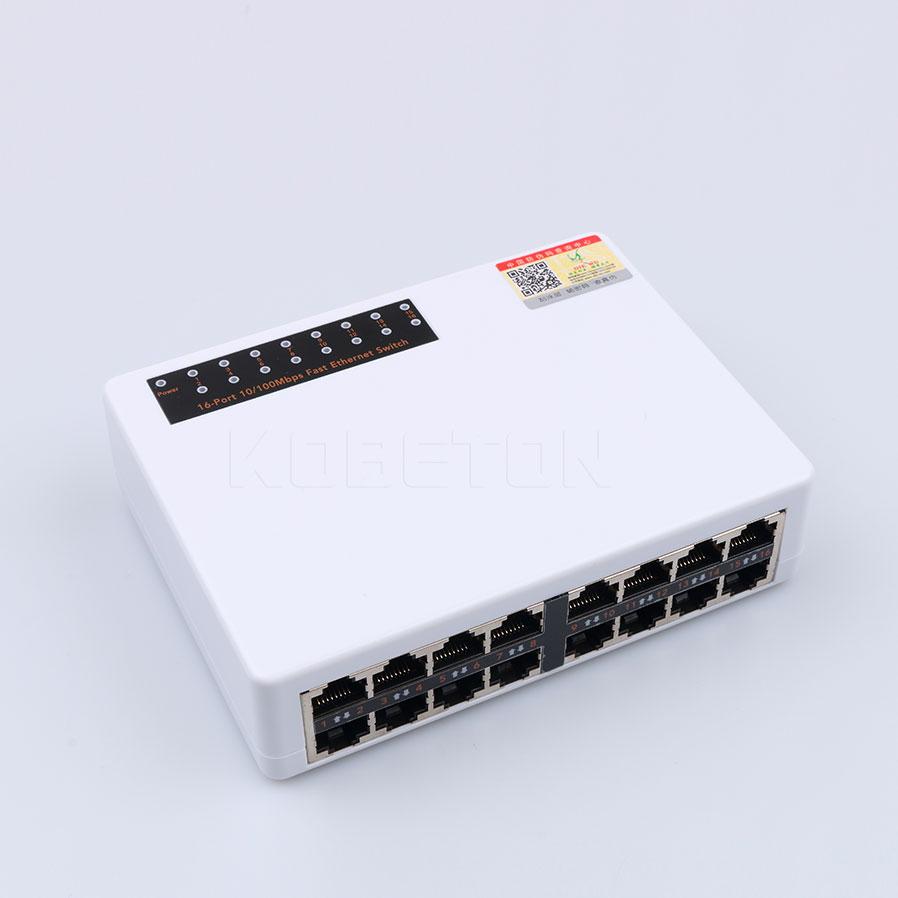Prix pour Nouveau 10/100 Mbps 16 Ports Fast Ethernet Commutateur de Réseau LAN RJ45 Vlan Switcher Hub PC De Bureau avec L'UE/NOUS Adaptateur Haute Qualité