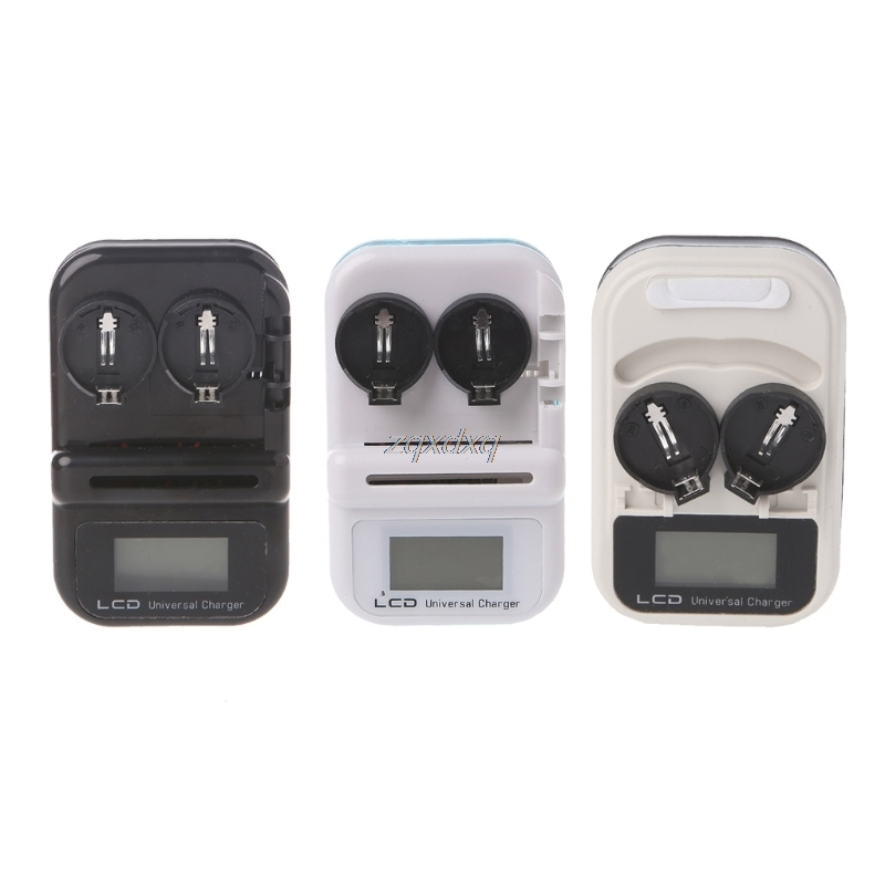 2 Slot LIR2032 Button Battery Charger Rechargeable LIR2032, LIR2025, LIR2016 LCD Power Display USB Port US Electronics Stocks