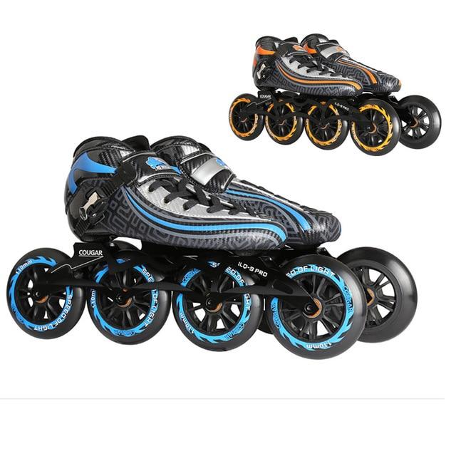 Asli Cougar SR9 Kecepatan Inline Skates Panas Modelable Karbon Serat  Kompetisi Skates 4 Wheels Balap Skating 6f62980e17
