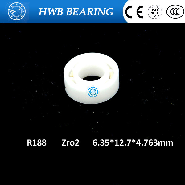Free shipping  R188 open full ZrO2 ceramic deep groove ball bearing 6.35*12.7*4.763mm 6.35x12.7x4.763mm FOR YOYO HAND SPINNER 6901 full zro2 ceramic deep groove ball bearing 12x24x6mm open type 61901