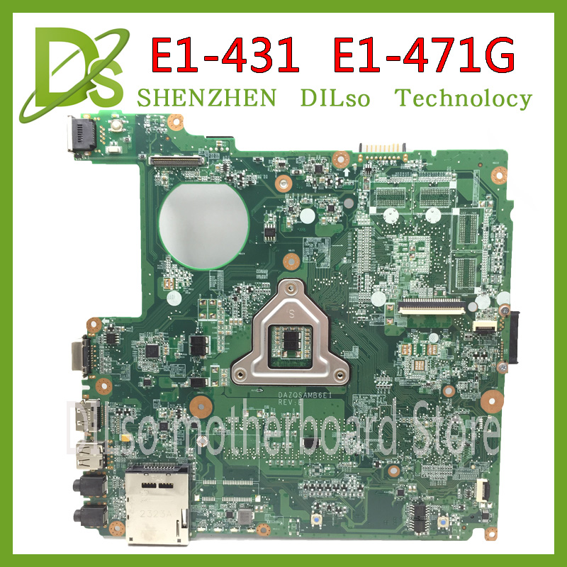 KEFU DAZQSAMB6E1 motherboard for ACER Aspire E1-431 E1-471G laptop motherboard HM67 original tested motherboard mba9302001 motherboard for acer aspire 5610 5630 travelmate 4200 4230 la 3081p ide pata hdd tested good