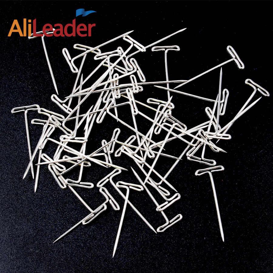 Alileader 50 stücke T Pin 14mm * 38mm für Perücke Fix auf Leinwand Kopf Perücke Toupet, Der Werkzeuge modellierung, postiing Memos DIY Werkzeuge
