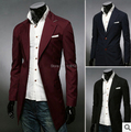 Envío gratis Hombres Con Estilo Casual/Negocio Diseño Slim Fit Un Botón Blazer Suit Coat Jacket tamaño m-2xl