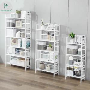 Louis Fashion Simple Bookshelf White Modern Wood Bookcase