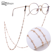 My Shape Handmade Flower Beaded Glasses Chain Vintage Sunglass Chain Silver Rose Gold Color