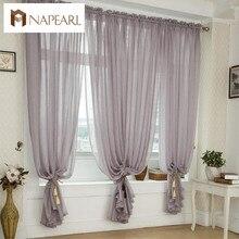 Pantallas de las exportaciones de alta gama de estilo Europeo dormitorio sala de estar balcón piso de lino cortinas de gasa sólido de encargo especiales
