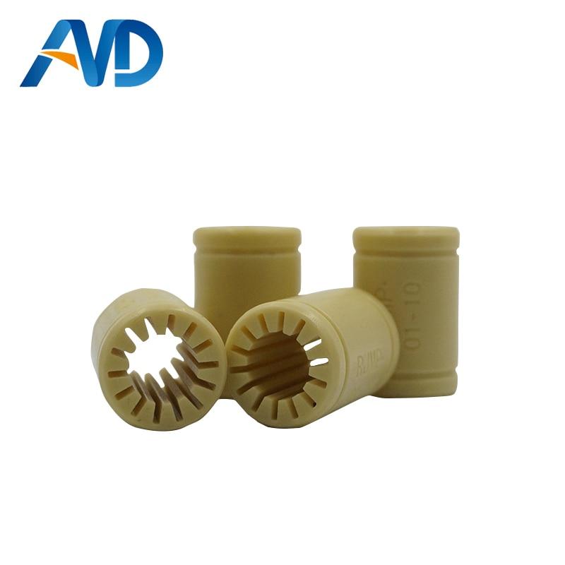 4pcs 3D Printer Solid Polymer LM10UU Bearing 10mm shaft RJMP-01-10 R Solid Plastic Bearing 10 mm ID